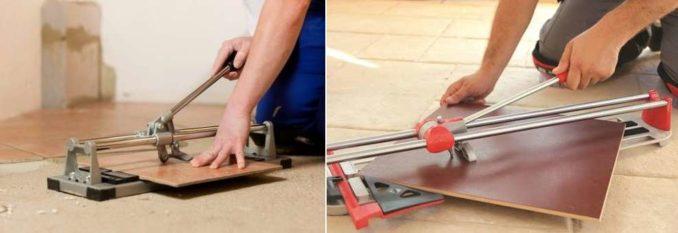 Как резать напольную плитку